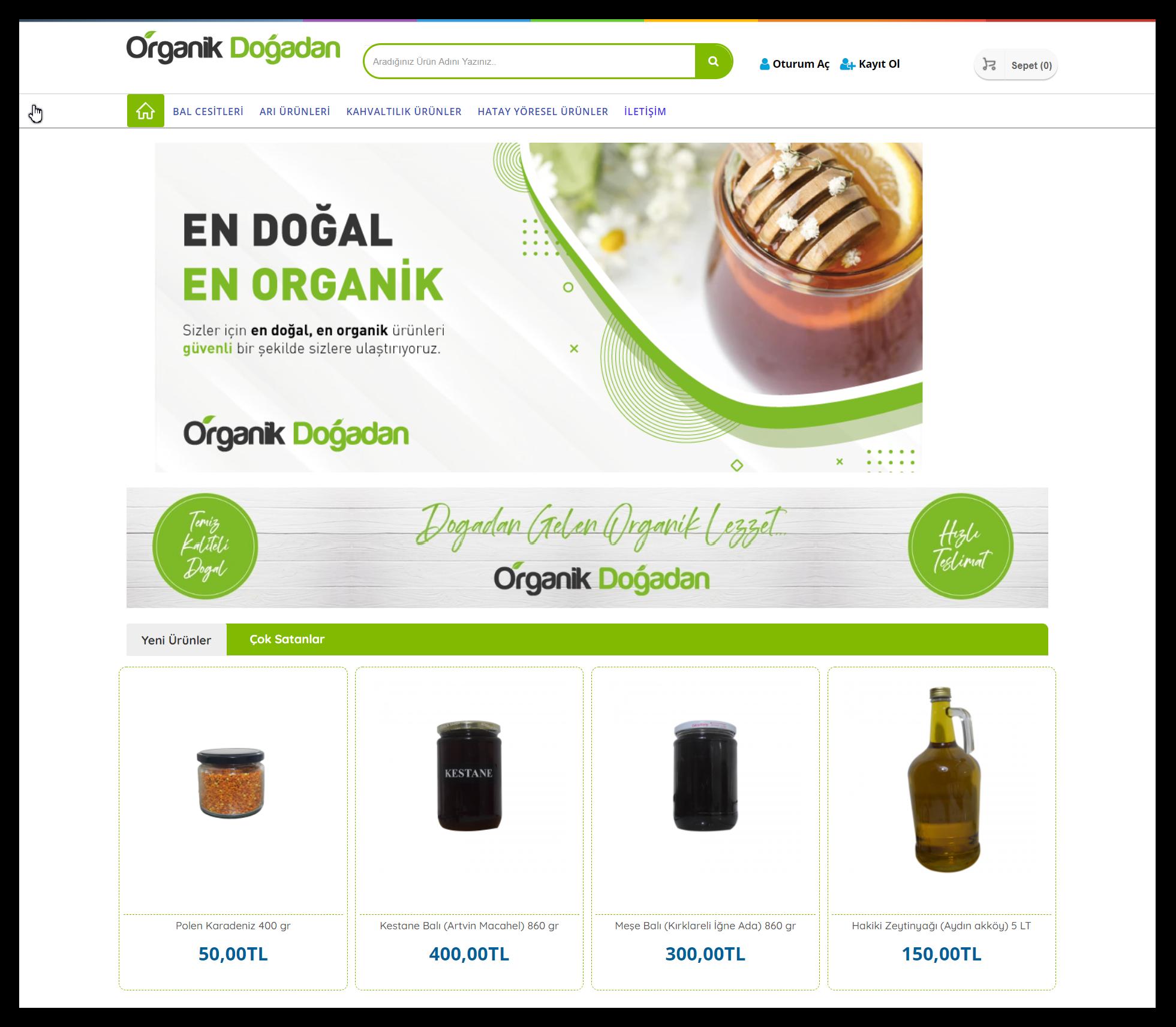 Organikdogadan- Eticaret